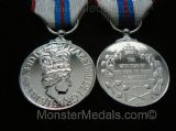 QUEENS SILVER JUBILEE MEDAL 1977 FULL SIZE REPLACEMENT COPY